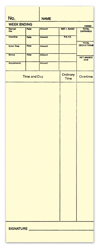 Time Card 103302